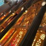 Lichtspiel in der Basilica Sagrada Familia von Gaudi