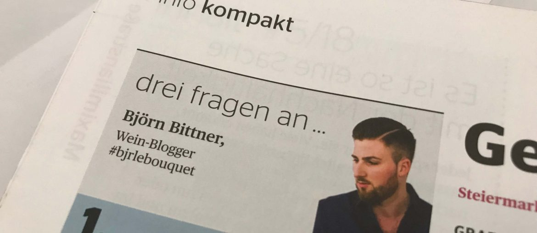 Interview Der Deutsche Weinbau Meininger Verlag mit Björn Bittner von BJR Le Bouquet als Wein Blogger