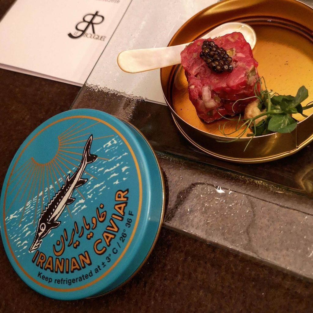 Steigenberger Grandhotel Petersberg Somm vs Blogger BJR Le Bouquet Caviar Tatar Iranian Sevruga