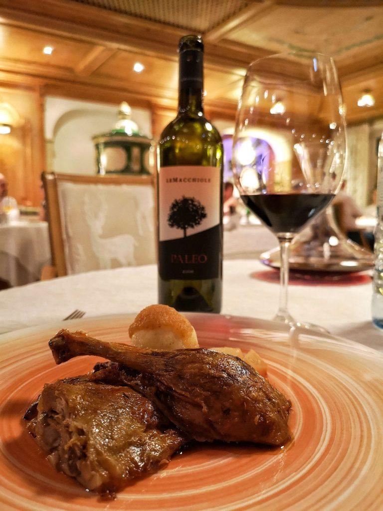 STOCK Weinwoche Zillertal Finkenberg Spa Wellness Wein Gans Blogheri Paleo Le Macchiole Dinner Riedel