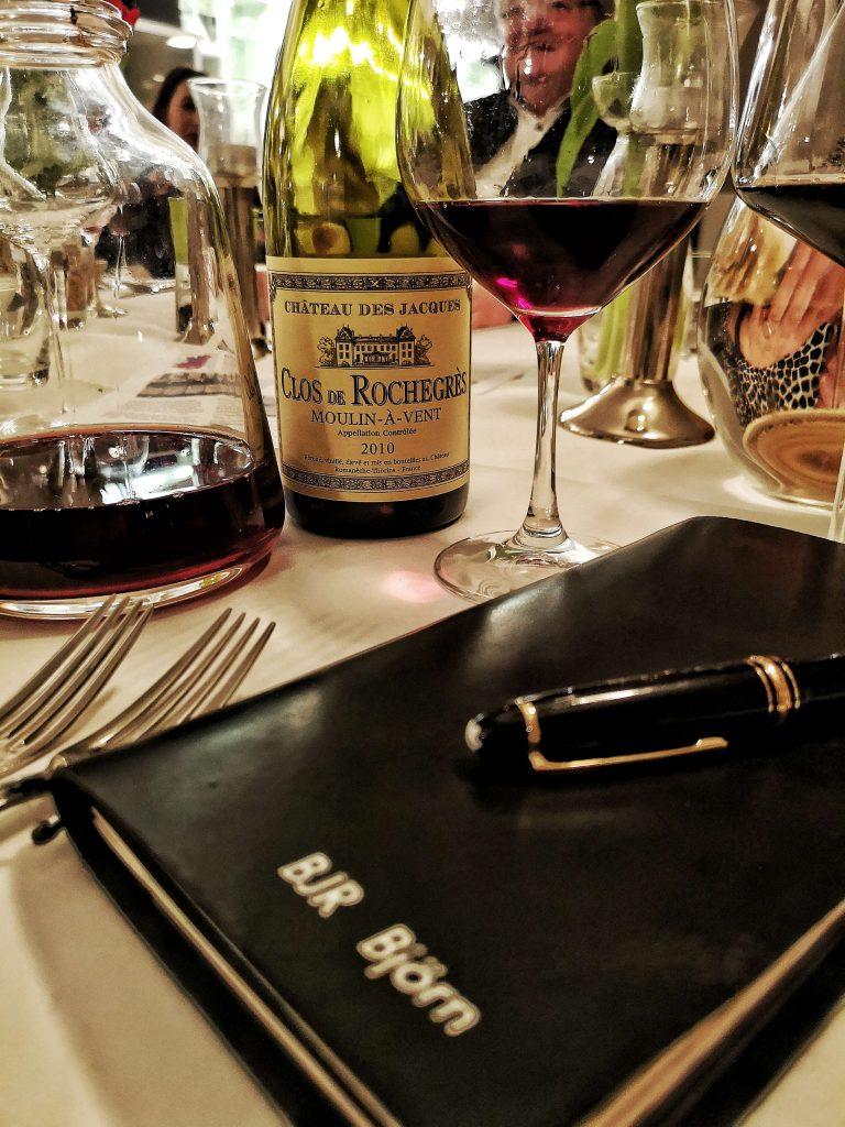 Gamay Beaujolais Schorn Düsseldorf Tasting Weinverkostung Weinprobe Louis Jadot Cru Brouilly Morgon Fleurie Moulin a Vent Montblanc BJR Björn Bittner Clos de Rochegres