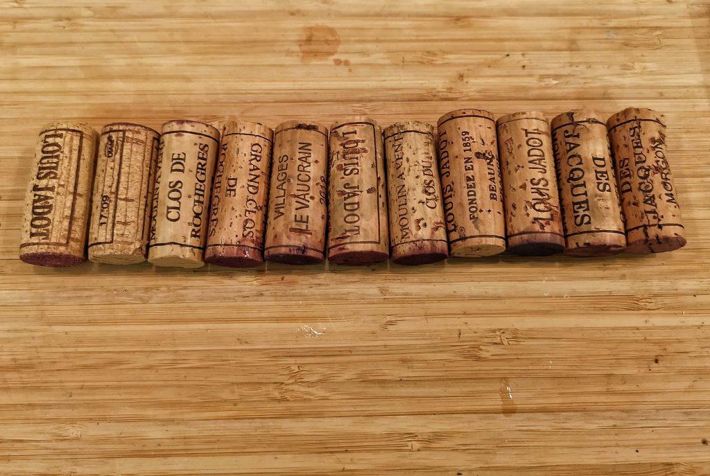 Gamay Beaujolais Schorn Düsseldorf Tasting Weinverkostung Weinprobe Louis Jadot Cru Brouilly Morgon Fleurie Moulin a Vent Cork Korken