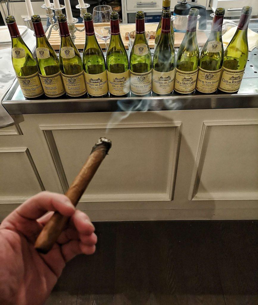 Gamay Beaujolais Schorn Düsseldorf Tasting Weinverkostung Weinprobe Louis Jadot Cru Brouilly Morgon Fleurie Moulin a Vent Zigarre Final