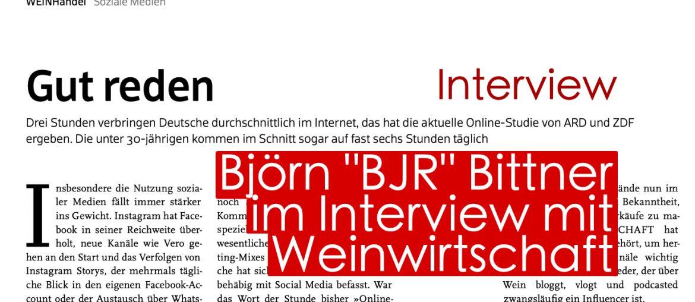 Meininger Weinwirtschaft Verlag Speicher Redaktion ARD ZDF Influencer Studie Interview Björn Bittner Befragung Wein Wirtschaft Branche Beruf Job Blogger