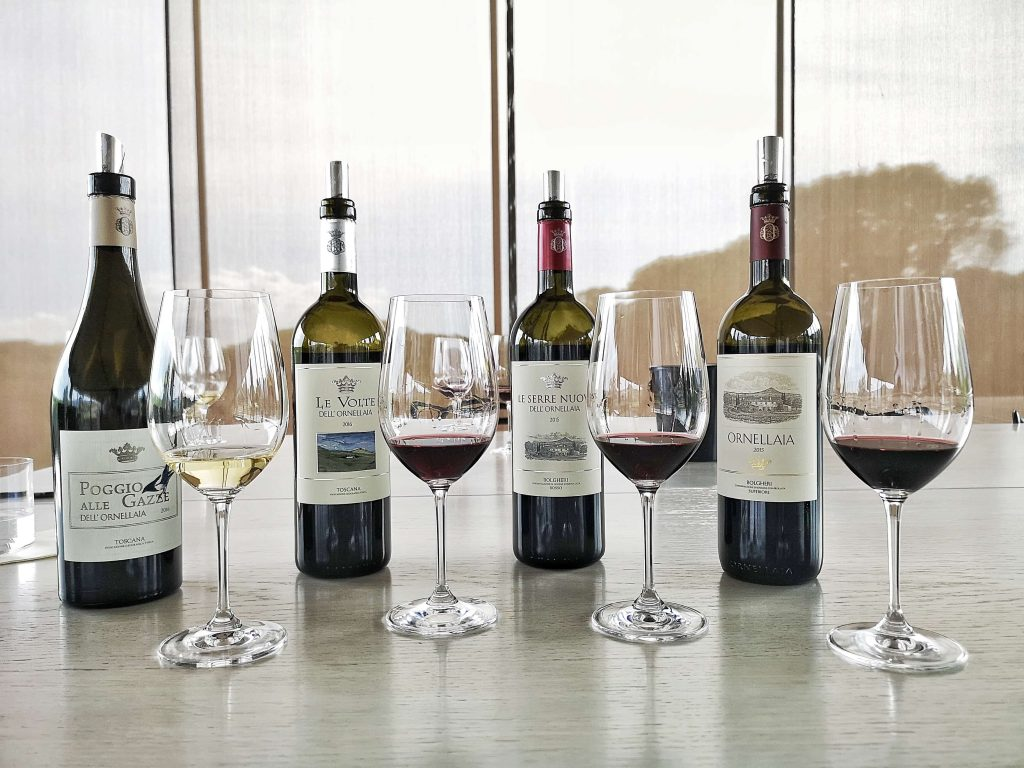 Ornellaia Weingut Winery Bolgheri Castagneto Carducci Toskana Tuscany Björn Bittner Poggio Alle Gazze Le Volte Le Serre Nuove 2015 Vintage Jahrgang Riedel
