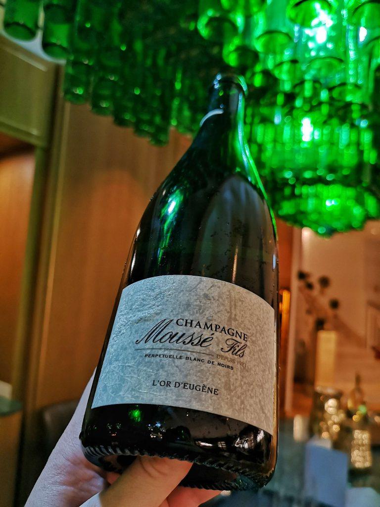 SOMM vs BLOGGER Steigenberger Grandhotel Petersberg Schaumwein Champagne Champagner Mousse Fils L'or d'eugene Cedric Meunier Cuisles