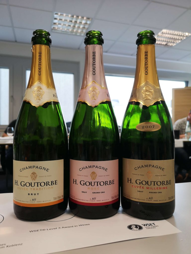 WSET Level 3 Koblenz London Wine Spirits Education Trust Champagner Champagne Goutorbe VIntage Rosé Brut