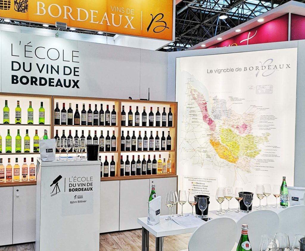 Lecole du Vin Bordeaux ProWein 2019 Wein Wine Fair Messe Björn Bittner BJR Le Bouquet Masterclass Seminar Workshop Booth Hall