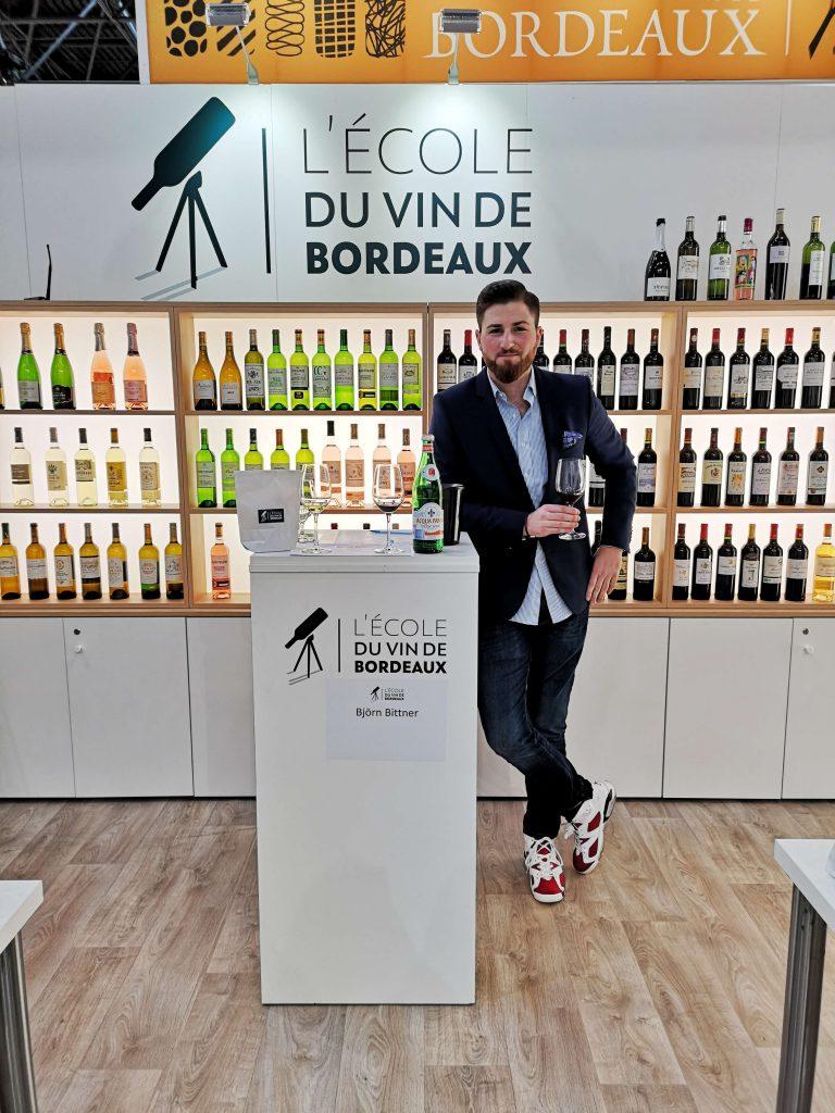 Lecole du Vin Bordeaux ProWein 2019 Wein Wine Fair Messe Björn Bittner BJR Le Bouquet Masterclass Seminar Workshop Blogger CIVB Vins Bordeaux