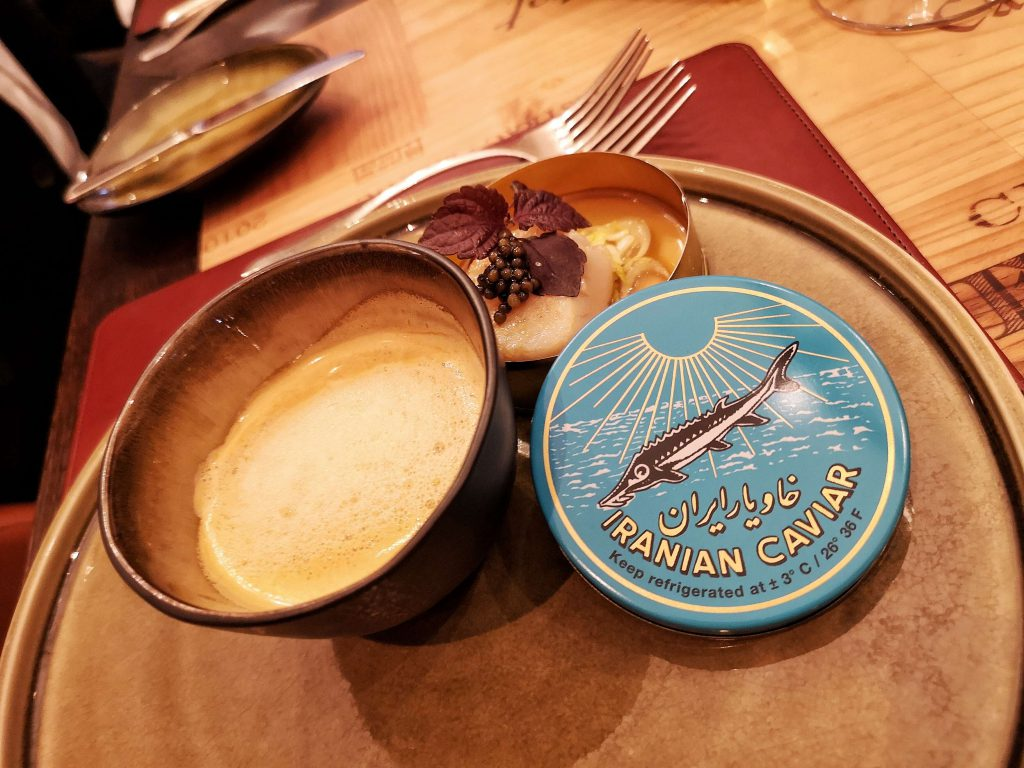 Steigenberger Grandhotel Petersberg Somm vs Blogger Event Wein Königswinter Iran Caviar Imperial Kaviar Scallop Lobster Hummer Jakobsmuschel Dinner