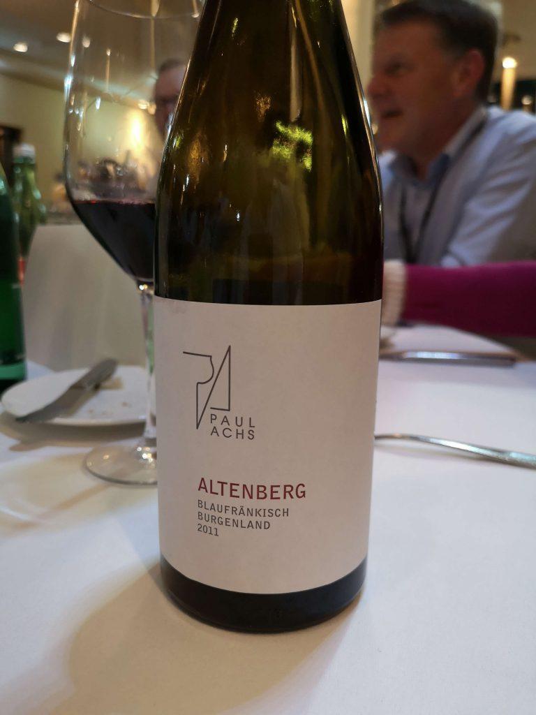 Austrian Wine Summit 2019 Weingipfel Österreich Paul Achs Altenberg Blaufränkisch Burgenland