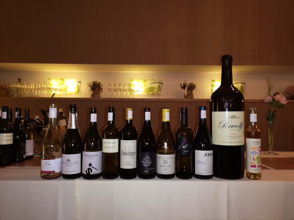 Austrian Wine Summit 2019 Weingipfel Österreich Dinner Gasthaus Csencsits Perwolf 9 Liter Umathum Kollwentz