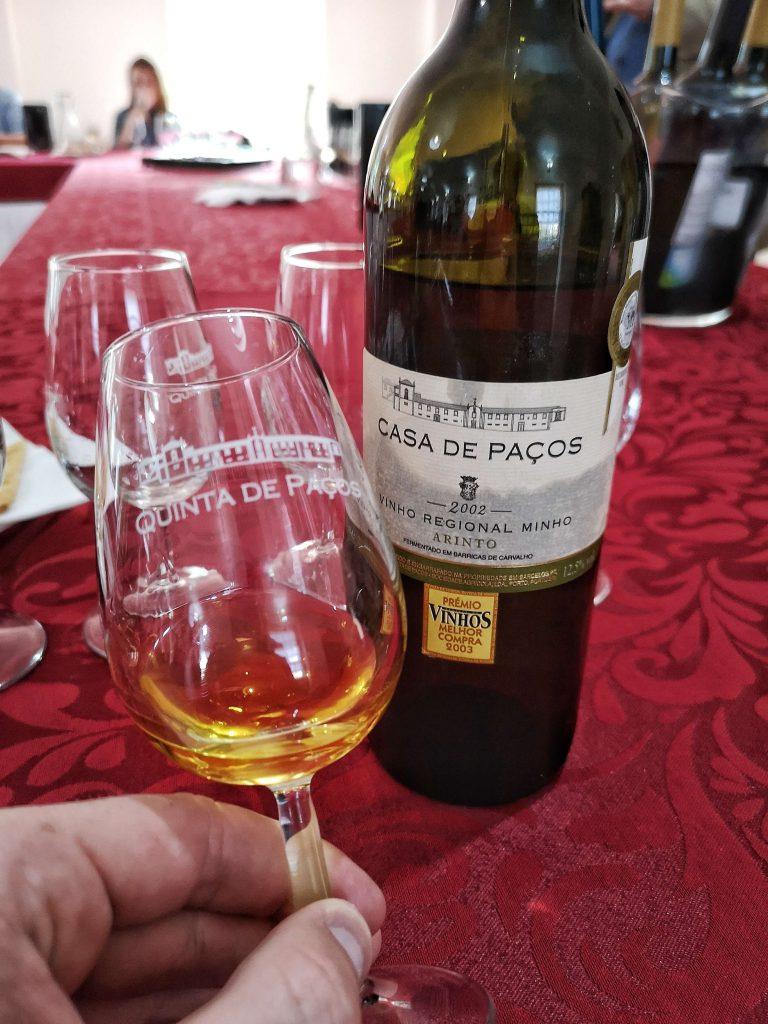 Vinho Verde Great European Wines Porto Quinta de Pacos Arinto Minho 2002
