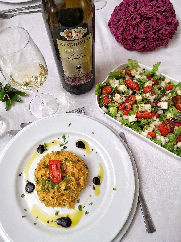 Vinho Verde Great European Wines Porto Quinta de Pacos Alvarinho Food Pairing Weinbegleitung Bacalao