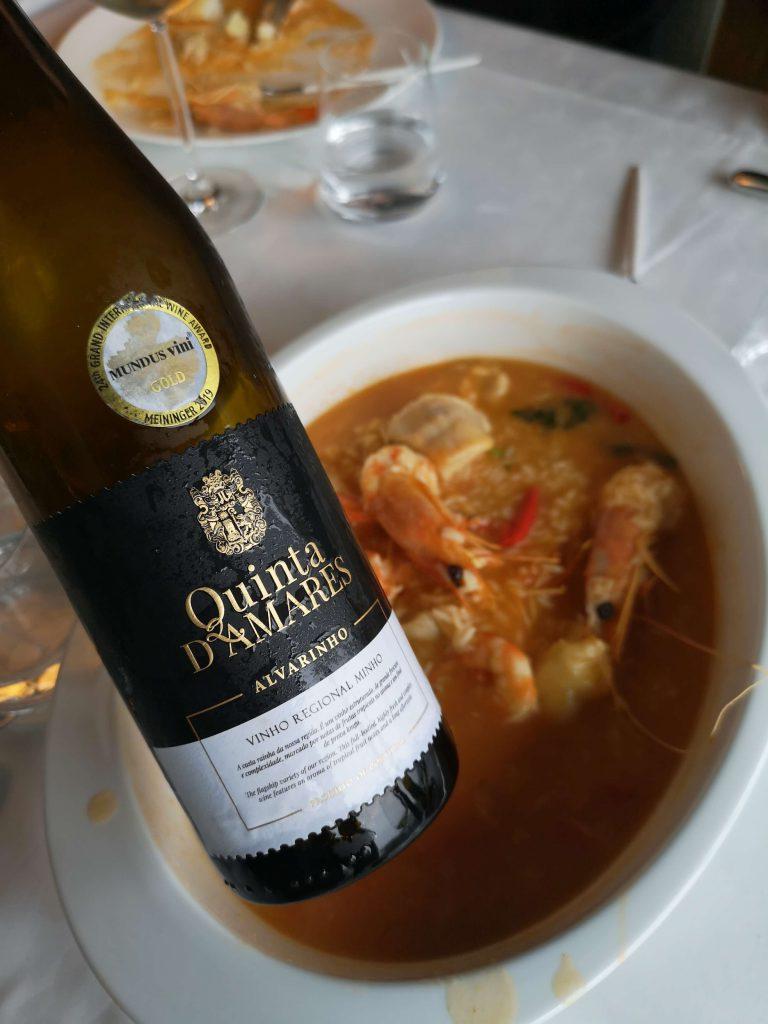 Vinho Verde Great European Wines Porto Quinta d Amares Alvarinho Weinbegleitung Food Pairing Seafood