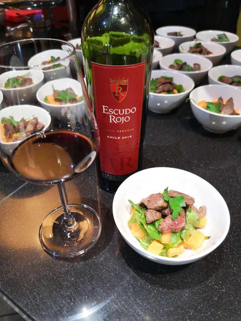 Escudo Rojo Chile Bordeaux Baron Philippe de Rotschild Pairing Wine Food