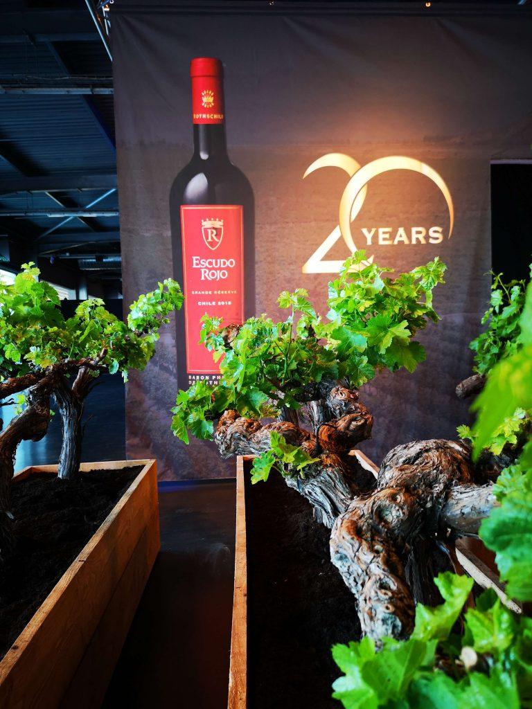 Escudo Rojo Chile Bordeaux Baron Philippe de Rotschild Gran Reserva Annivesary 20 years Jubiläum Gran Reserva