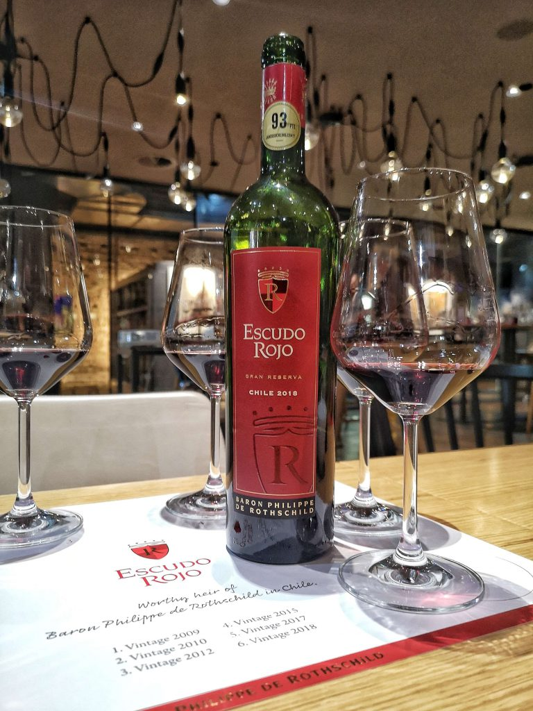 Escudo Rojo Chile Bordeaux Baron Philippe de Rotschild Hamburg Vertikalverkostung Vertical Tasting Winebank