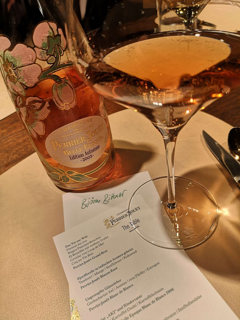 Perrier-Jouet The Table Kevin Fehling Champagner Menü Belle Epoque Rosé Vintage Edition Automne