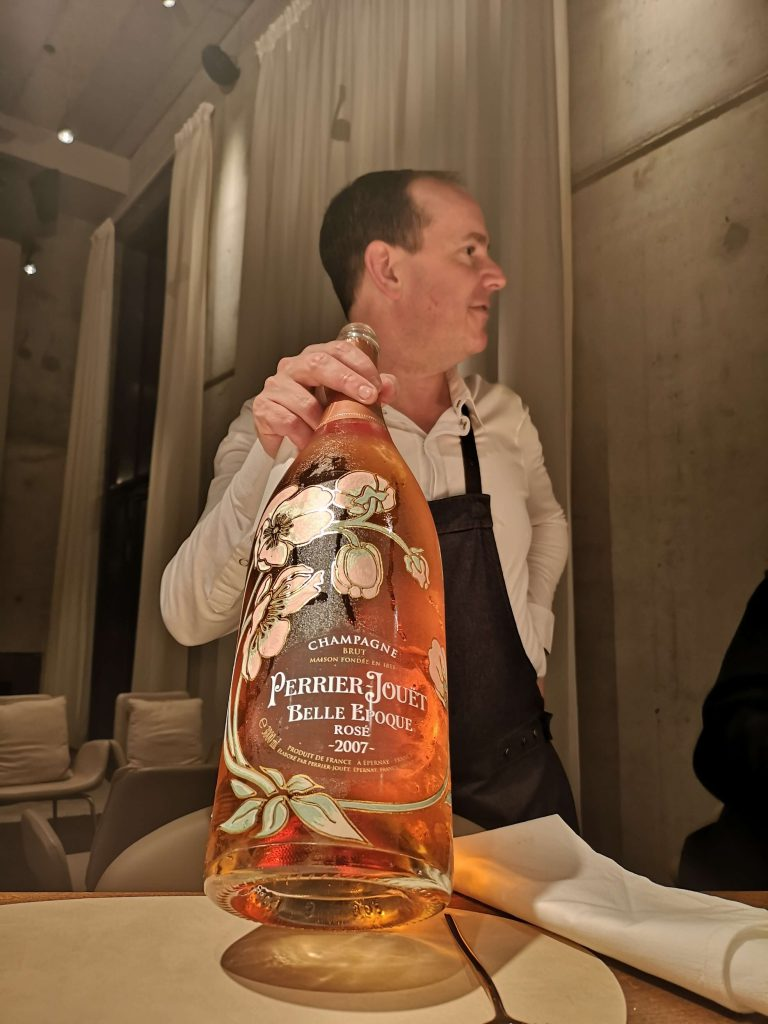 Perrier-Jouet The Table Kevin Fehling Champagner BJR Le Bouquet Jeroboam 3L Belle Epoque Rosé David Eitel