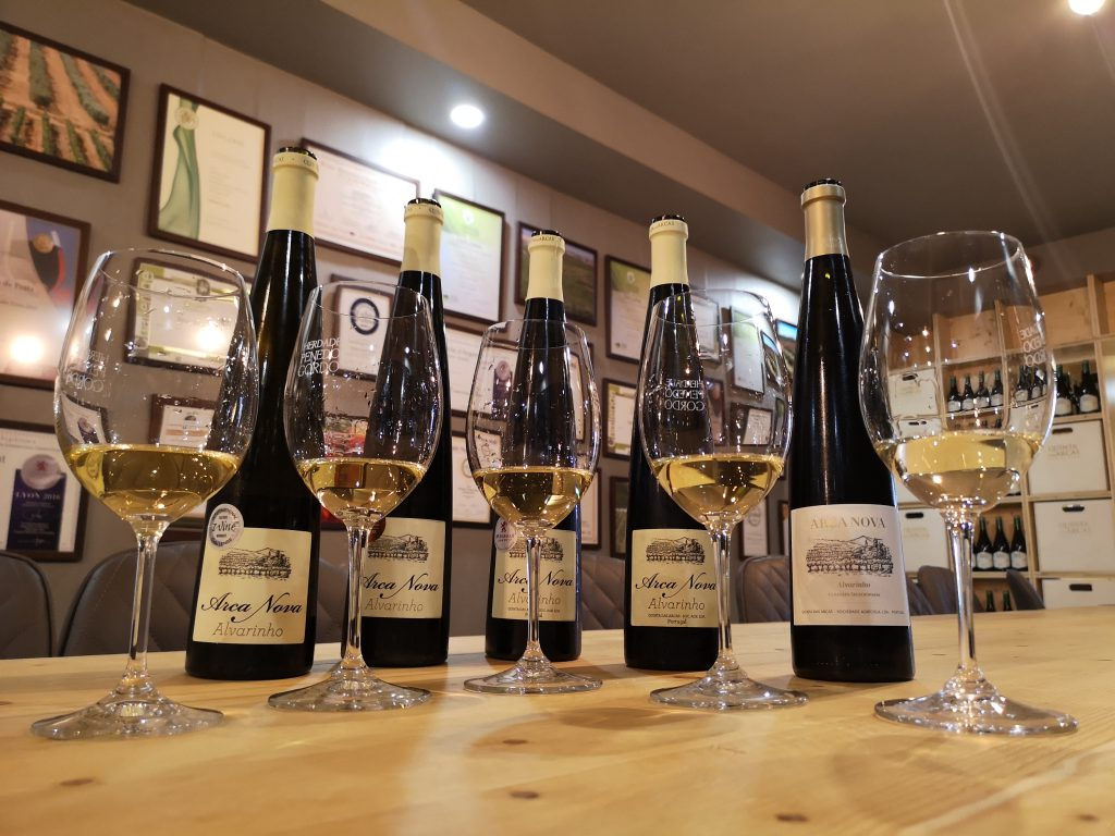 Portugal Vinho Verde Reise Reisebericht Quinta Arcas Arca Nova Alvarinho Vertikale Verkostung Weinprobe
