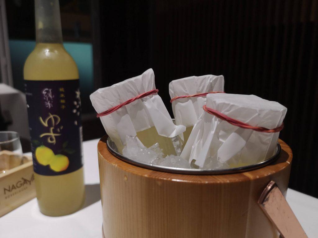 Sake Einleitung Artikel Japan Yuzu Aperitif Nagaya YOSHI Michelin