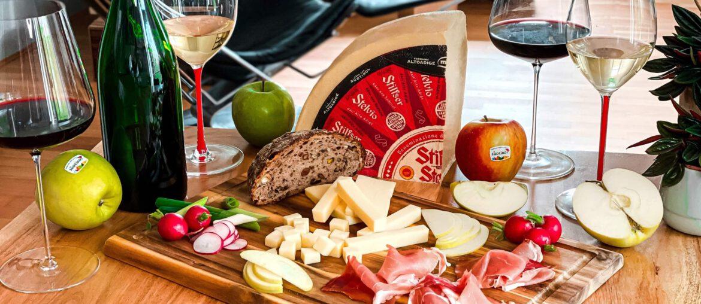 Südtirol Wein Weine g.g.A. g.U. EU Siegel Qualität BJR Le Bouquet Stilfser Apfel Südtiroler Speck